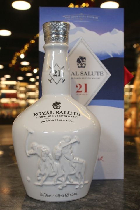 (現貨) Royal Salute 21 Years Snow Polo Blended Grain 皇家禮炮21年雪地馬球 調和穀物威士忌 (700ml 46.5%)