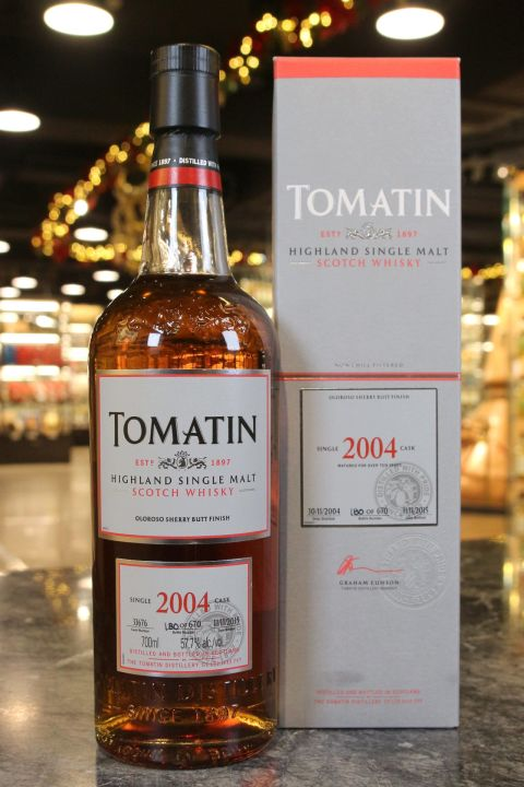 (現貨) Tomatin 2004 Single Cask Oloroso Finish 湯馬丁2004 雪莉桶單桶 (700ml 57.7%)