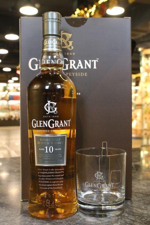 (現貨) Glen Grant 10 Years Gift Pack 格蘭冠 10年 單杯禮盒 (700ml 40%)