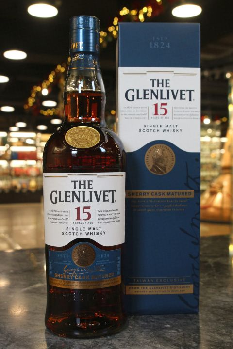 (現貨) Glenlivet 15 Years Oloroso Sherry Cask 格蘭利威 15年 雪莉桶 台灣限定 (700ml 40%)