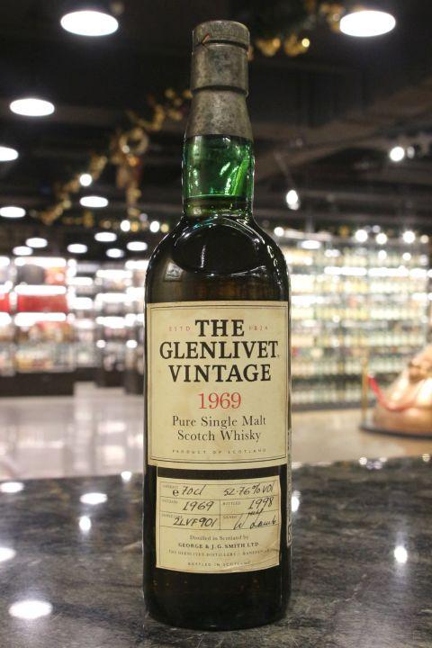 (現貨) Glenlivet 1969 Pure Malt Scotch Whisky Bot.1998 格蘭利威 1969單桶 1998裝瓶 (700ml 52.76%)