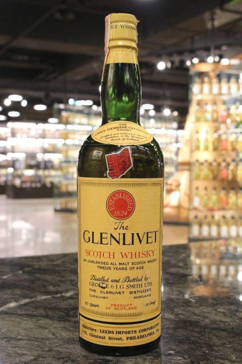 (現貨) Glenlivet 12 Years  Unblended All Malt George & J.G. Smith 格蘭利威 12年 絕版