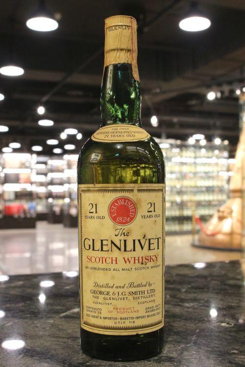 (現貨) Glenlivet 21 Years Unblended All Malt George & J.G. Smith 格蘭利威 21年 絕版 (750ml 45.7%
