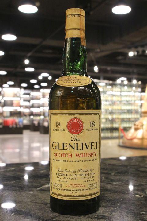 (現貨) Glenlivet 18 Years Unblended All Malt George & J.G. Smith格蘭利威 18年 絕版 (750ml 45.7%)