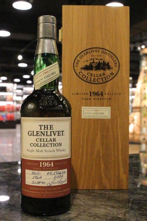 (現貨) GLENLIVET 1964 Cellar Collection 格蘭利威 1964 40年 原酒 單一麥芽威士忌 (700ml 45.1%)