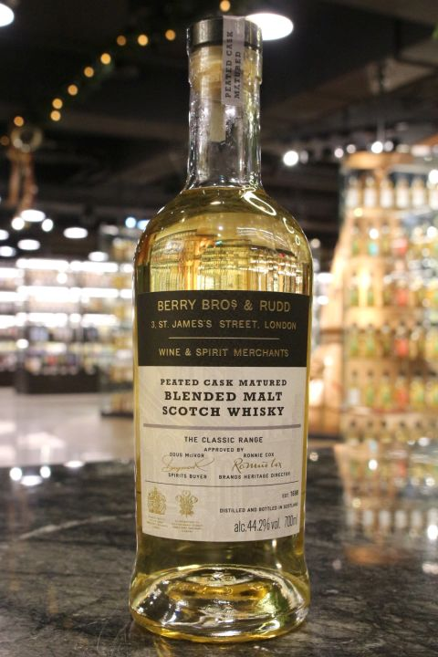 BBR The Classic Range Peated Cask Blended Malt 貝瑞兄弟 泥煤桶 調和麥芽威士忌 (700ml 44.2%)