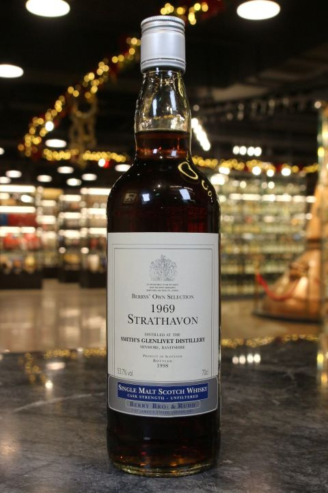 (現貨) BBR Strathavon Glenlivet 1969 Berry's Own Selection 貝瑞兄弟 格蘭利威 1969 (700ml 53.7%)
