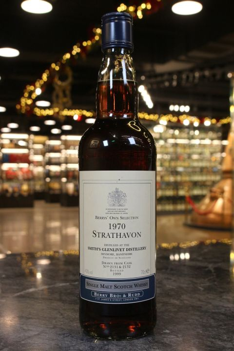 (現貨) BBR Strathavon Glenlivet 1970 Berry's Own Selection 貝瑞兄弟 格蘭利威 1970 (700ml 43%)