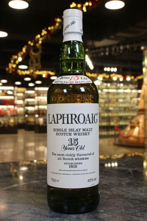 (現貨) Laphroaig 15 Years Bot. 1980s 拉佛格 15年 八零年代裝瓶 (750ml 43%)