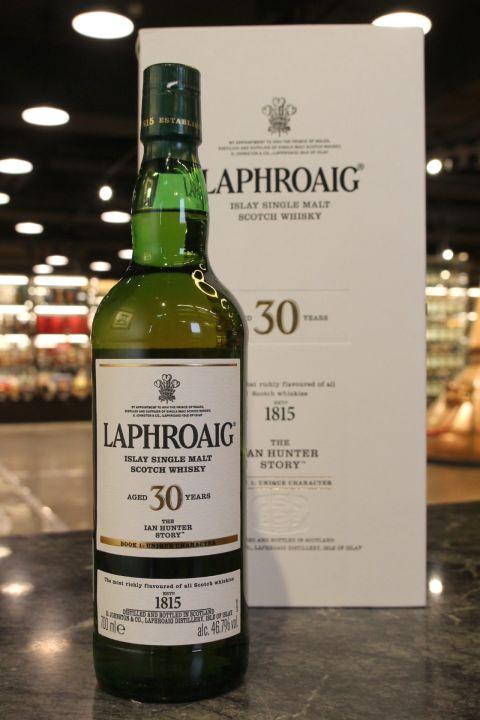 (現貨) Laphroaig 30 Years Ian Hunter Book 1 拉佛格 30年 書冊 第一版 (700ml 46.7%)