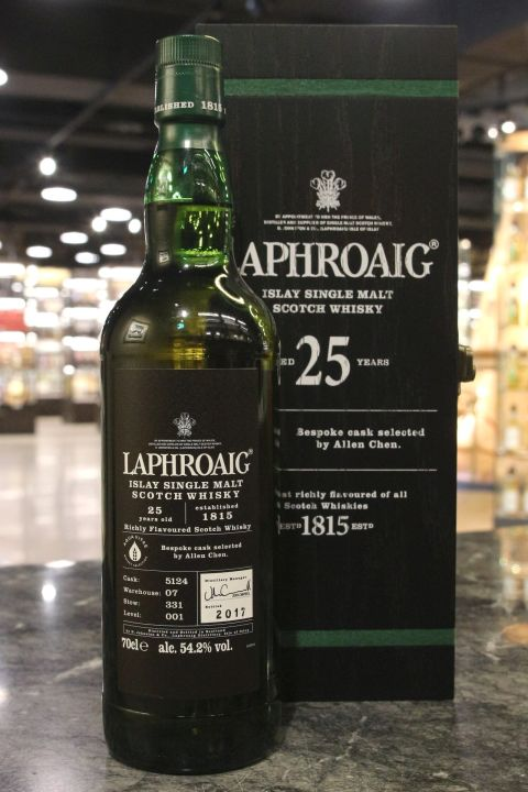 (現貨) Laphroaig 25 Years Single Cask #5124 Aqua Vitae 拉佛格 25年 單桶 (700ml 54.2%)