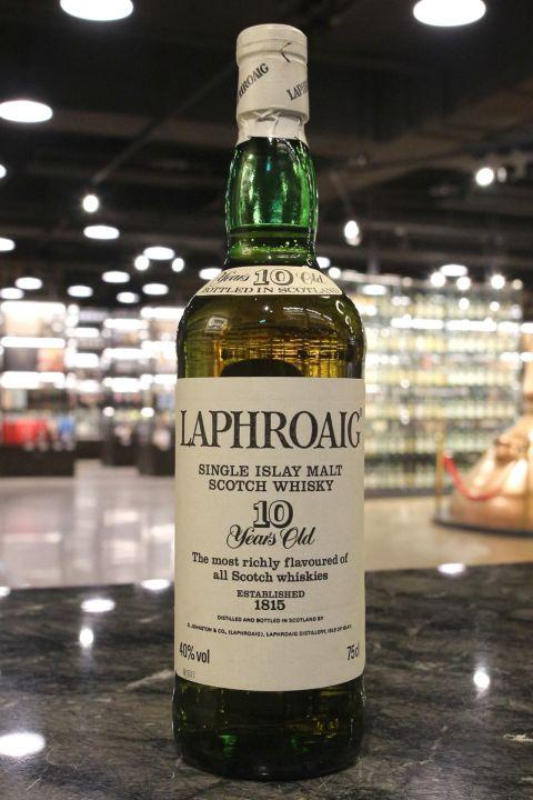 (現貨) Laphroaig 10 Years Bot. 1980s 拉佛格 10年 八零年代裝瓶 (750ml 40%)