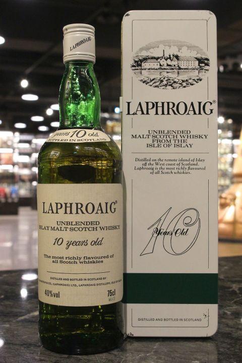 (現貨) Laphroaig 10 Years Unblended Bot. 1980s 拉佛格 10年 鐵盒 八零年代裝瓶 (750ml 40%)