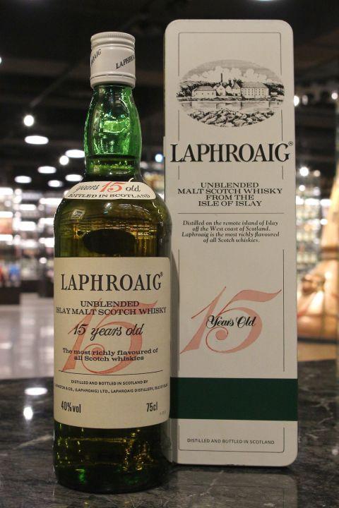 (現貨) Laphroaig 15 Years Unblended Bot. 1980s 拉佛格 15年 鐵盒 八零年代裝瓶 (750ml 40%)