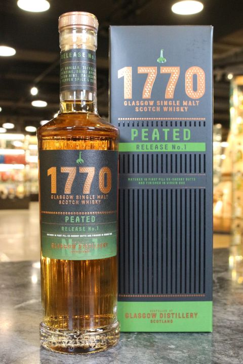 (現貨) Glasgow 1770 Single Malt Whisky Peated Released No.1 格拉斯哥 1770 泥煤款 (700ml 46%)