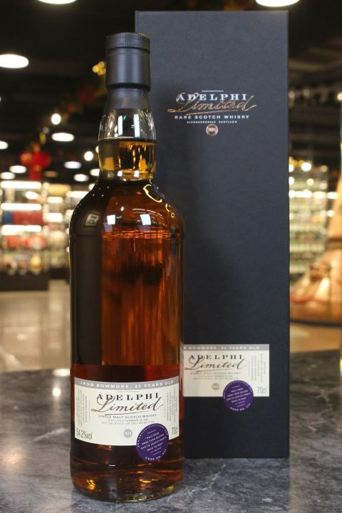 (現貨) Adelphi - Bowmore 1994 25 Years Refill Sherry Butt 艾德菲 波摩25年 雪莉桶 精裝版 (700ml 54.2%)