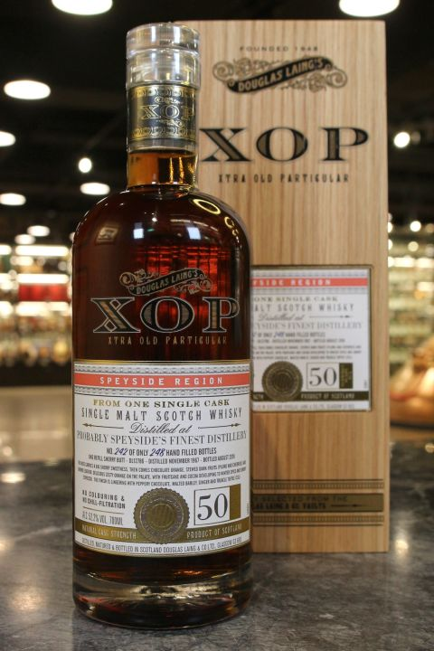 (現貨) Douglas Laing Probably Speyside's Finest 1967 50 Years 道格拉斯蘭恩 XOP系列 (700ml 52.2%)