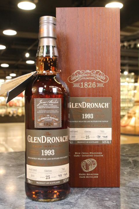 (現貨) Glendronach 1993 Cask Bottling Exclusively for Taiwan 格蘭多納 1993 25年 單桶 (700ml 54%)