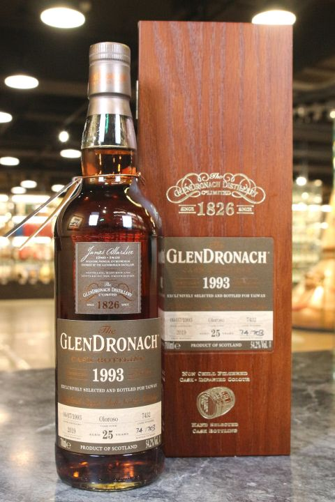 (現貨) Glendronach 1993 Cask Bottling Exclusively for Taiwan 格蘭多納 1993 25年 單桶 (700ml 54.2%)