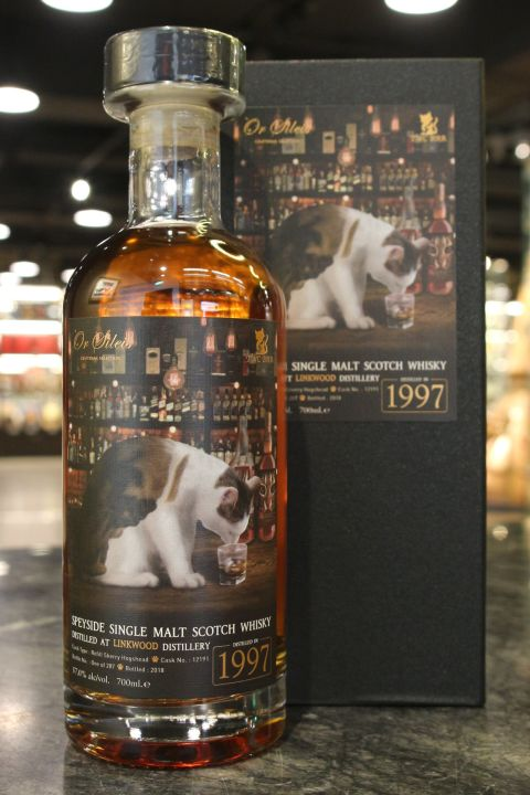 Ór Sìleis - Linkwood 1997 21 Years Sherry Cask 歐希嵐斯 林可伍德 1997 酒吧遇見貓 (700ml 57%)
