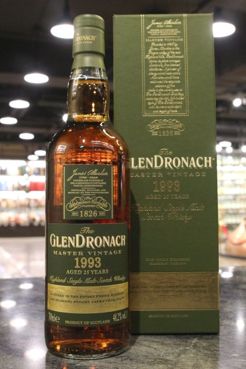 (現貨) Glendronach Master Vintage 1993 25 Years 格蘭多納 1993 25年 雙雪莉桶 (700ml 48.2%)