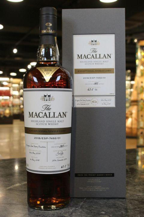 (現貨) Macallan Exceptional Single Cask 2018 Cask 01 麥卡倫 ESC系列 單桶原酒 (700ml 65.5%)