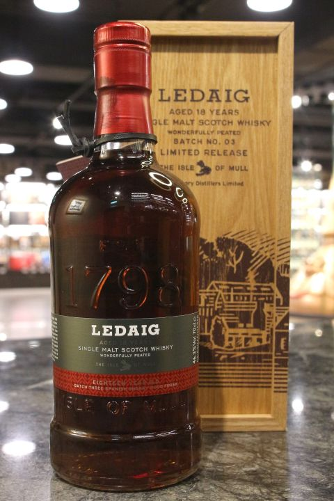 (現貨) Ledaig 18 Years Limited Edition Batch No.03 里爵 18年 特別版 (700ml 46.3%)