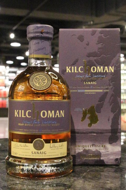 (現貨) Kichoman Sanaig Single Malt Whisky 齊侯門 Sanaig 單一麥芽威士忌 (700ml 46%)