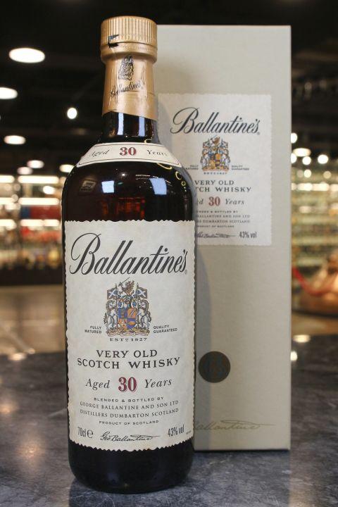 (現貨) Ballantine's 30 Years Very Old Scotch Whisky 百齡罈 30年 舊版 (700ml 43%)