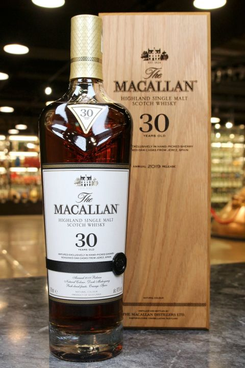 (現貨) Macallan 30 Years 2019 Release 麥卡倫 30年 2019版 (700ml 43%)