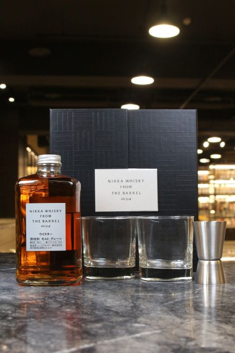 (現貨) Nikka Whisky From The Barrel Gift Set 雙杯禮盒版 (500ml 51.4%)