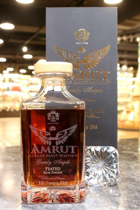 (現貨) AMRUT Greedy Angle 10 Years Peated Rum Finish 貪婪天使10年特別版 泥煤蘭姆 (700ml 57.1%)