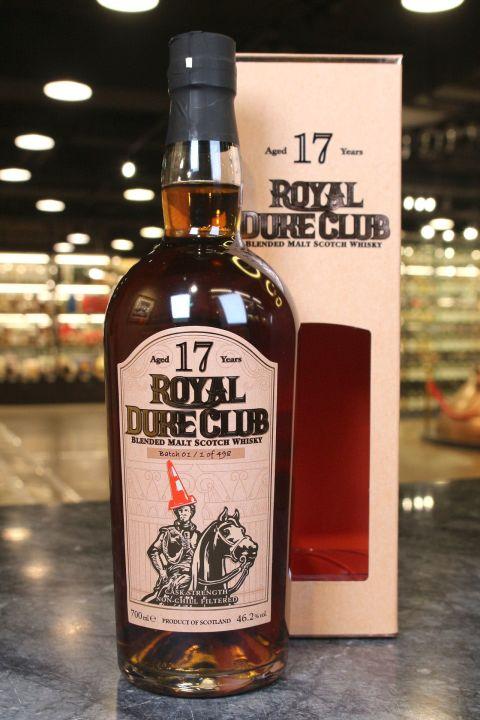 (現貨) Royal Duke Club 17 Years Blended Malt Scotch Whisky 紅帽爵士17年調和麥芽威士忌 (700ml 46.2%)