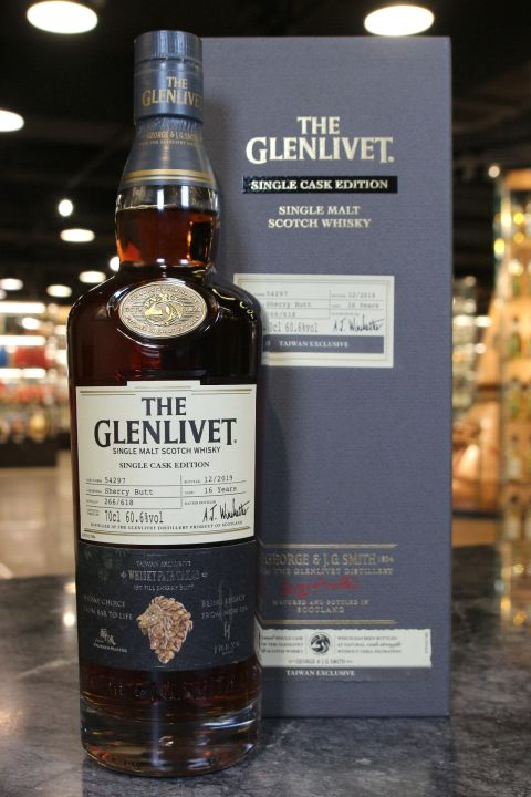 (現貨) Glenlivet 16 Yearsl Sherry Butt for Whiskyfair Takao 2020 格蘭利威16年初次雪莉桶單桶 (700ml 60.6%)