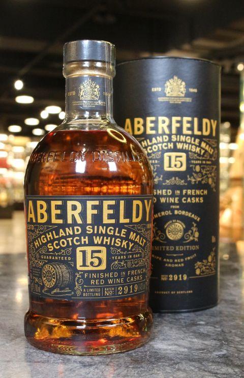 Aberfeldly 15 Years Finished in French Red Wine Casks 艾柏迪15年特仕版 法國紅酒桶 (700ml 43%)