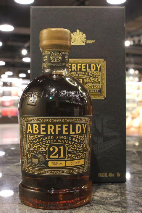 (現貨) Aberfeldl 21 Years Single Malt Scotch Whisky 艾柏迪21年單一麥芽威士忌 (700ml 40%)