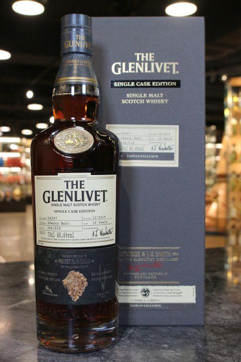 (現貨) Glenlivet 16 Years 1st Fill Sherry Butt 格蘭利威16年雪莉單桶 高雄威士忌嘉年華紀念版 (700ml 60.6%)