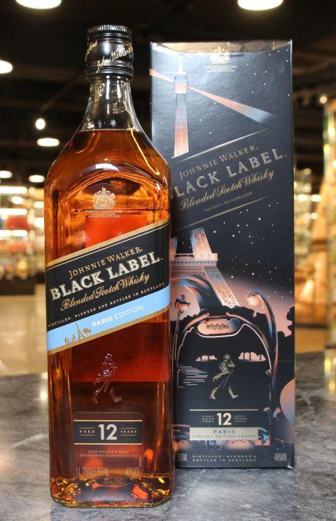 Johnnie Walker Black Label 12 Years Paris Limited Edition 約翰走路黑牌12年 巴黎限定版 (1000ml 40%)