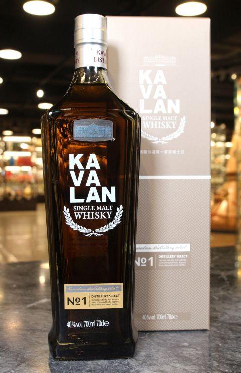 (現貨) KAVALAN Distillery Select No.1 噶瑪蘭 珍選No.1 單一麥芽威士忌 (700ml 40%)