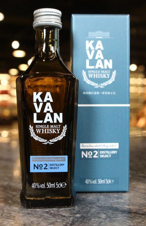 KAVALAN Distillery Select No.2 Miniature 噶瑪蘭 珍選No.2 單一麥芽威士忌 小樣酒 (50ml 40%)