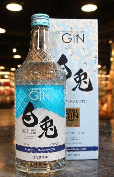 """(現貨) MATSUI GIN """"THE HAKUTO"""" From Kurayoshi Distillery 松井酒造 白兔琴酒 (700ml 40%)"""