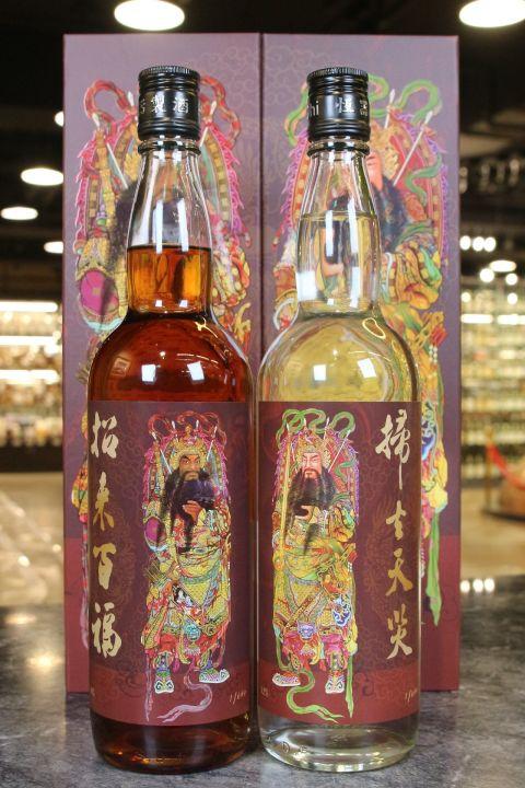 (現貨) Heng Chi Sweet Potato Liquor Set 恆器製酒 門神禮讚地瓜酒禮盒組 (750ml*2 52+48%)