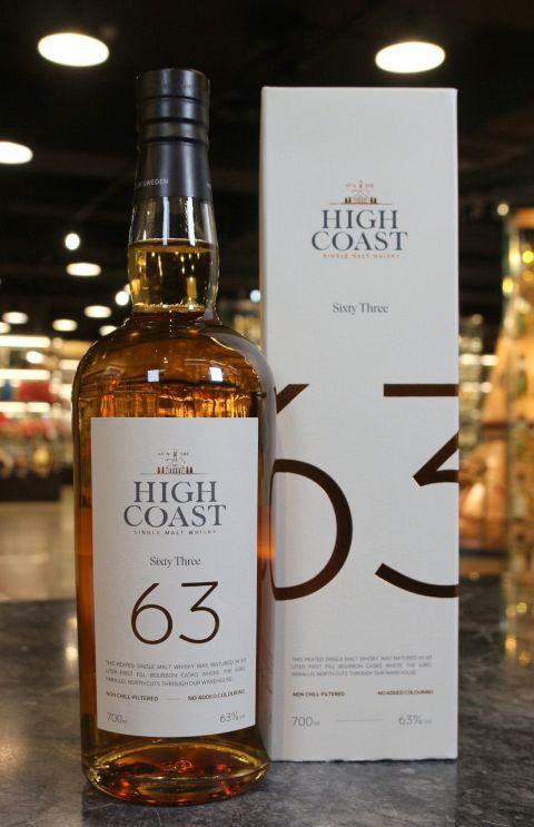 High Coast 63 Peated Single Malt Whisky 瑞典高岸 63高緯度紀念酒 重泥煤 (700ml 63%)