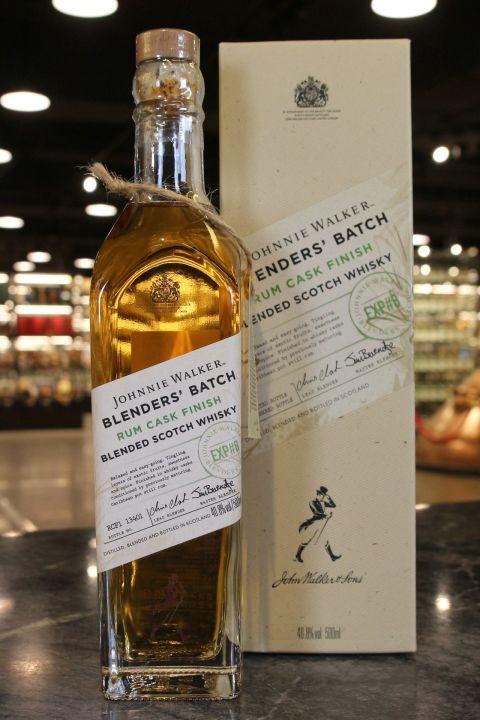 (現貨) Johnnie Walker Rum Cask Finish Blenders Batch #8 約翰走路 首席私藏精選 加勒比海蘭姆桶 (500ml 40.8%)