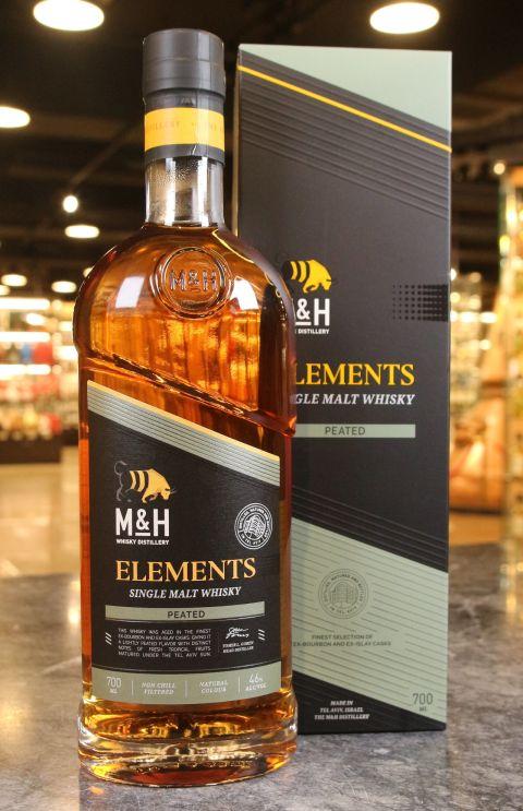 (現貨) M&H Elements Peated Single Malt Whisky 奶與蜜 元素系列 泥煤桶 (700ml 46%)