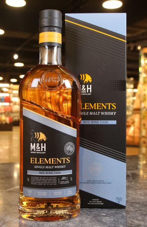 (現貨) M&H Elements Red Wine Cask Single Malt Whisky 奶與蜜 元素系列 紅葡萄酒桶 (700ml 46%)