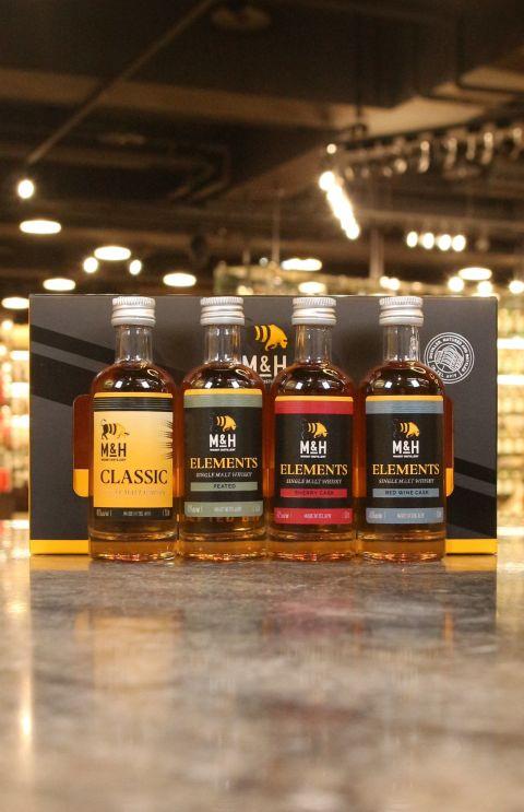 (現貨) M&H Whisky Miniature Gift Set 奶與蜜威士忌 四款小樣組 (50ml*4,46%)