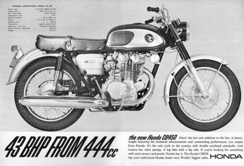 以450cc發揮650cc以上性能的1965 Honda Dream CB450~