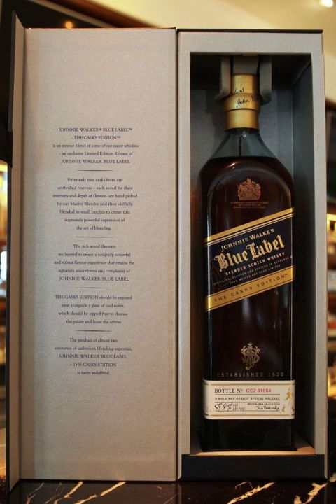 Johnnie Walker blue label the casks edition 約翰走路 藍牌原酒 (55.8% 30ml)