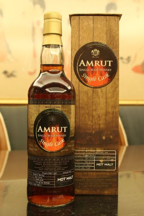 Amrut 2009~2016 Single Cask Peated Barley 雅沐特 2009-2016 泥煤單桶 (60% 30ml)